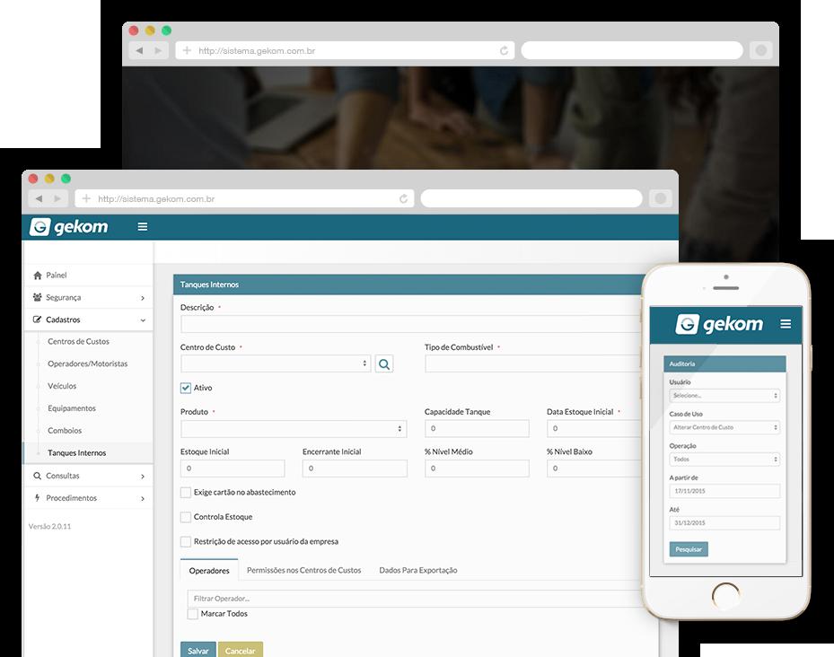 Screenshot Gekom Sistema de Gestão Online